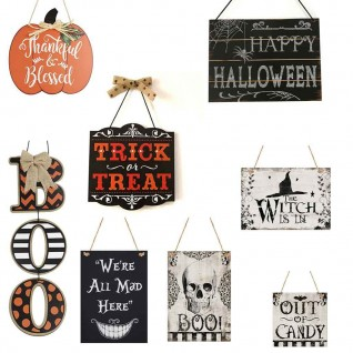Halloween Party Decoration Hanging Board Wooden Crafts
