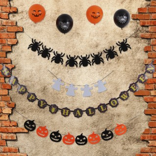 Halloween Garland Set With Latex Balloons