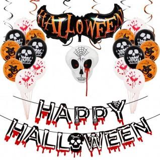 Halloween Props Venue Decoration Spoof Skull Aluminum Balloon