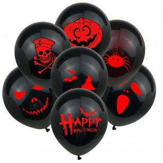 Black Horror Balloon Party Decoration Balloons for Halloween