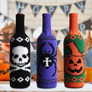 Halloween Knitted Wine Bottle Bag Decoration