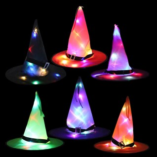 Glowing Witchs Hat Halloween Hats
