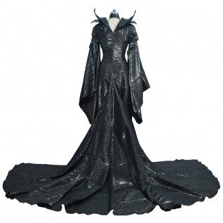 Women Maleficent Black Witch Cosplay Costumes