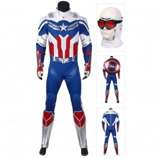 Sam Wilson Captain America Suit The Falcon Cosplay Costume