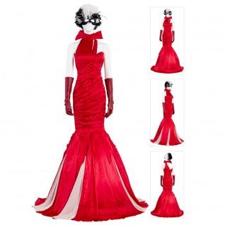 Cruella De Vil Costume 2021 Movie Cruella Dress Cosplay Suit