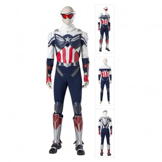 Captain America Sam Wilson Cosplay Costume The Falcon and the Winter Soldier Suits