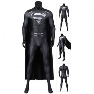 Superman Costume Justice League Clark Kent Cosplay Kal-El Black Suit