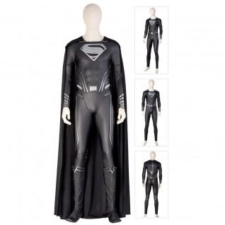 Black Superman Cosplay Costumes Justice League Zack Snyder Superman Clark Kent Suits