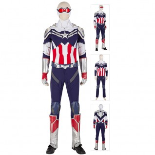 Sam Wilson Cosplay Costumes The Falcon and the Winter Soldier Suit