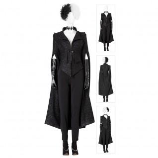 Cruella De Vil Black Suit Cosplay Costumes