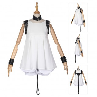 White Girl Costume Nier Reincarnation Woman in White Dress Cosplay Suit