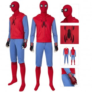 Spiderman Cosplay Costumes Spider-Man Homecoming Peter Parker Cosplay Suit