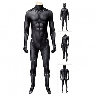 T'Challa Cosplay Costumes Black Panther Suit