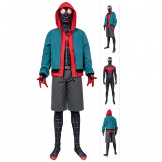Miles Morales Cosplay Costume Into the Spider-Verse Miles Cosplay Suit