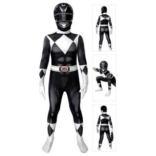 Kids Power Ranger Costume Black Mighty Morphin Power Rangers Cosplay Suit