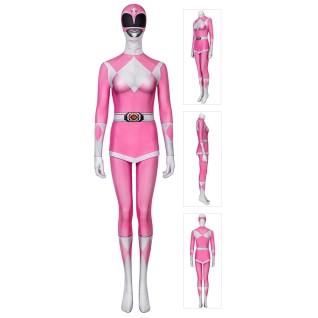 Women Power Ranger Costumes Suit Pink Mighty Morphin Power Rangers Cosplay