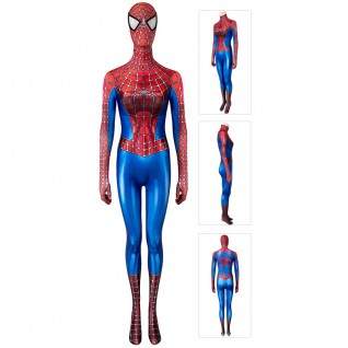 Female Spiderman Cosplay Costume Spider-Man Tobey Maguire Cosplay Suit