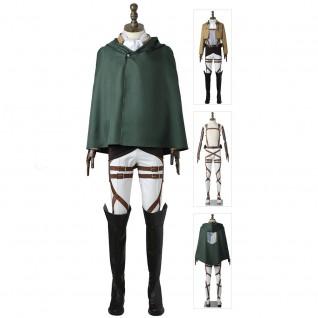 Levi Ackerman Costume Attack On Titan Uniform Captain Levi The Survey Corps Suit