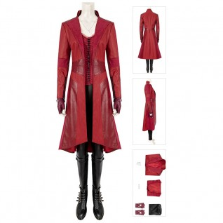 Wanda Maximoff Cosplay Costume Captain America 3 Civil War Scarlet Witch Suit