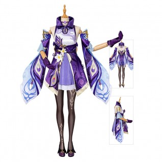 Keqing Costume Genshin Impact Cosplay Suits