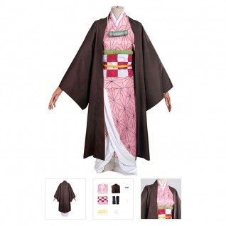 Nezuko Kamado Costume Demon Slayer Kimetsu No Yaiba Cosplay Suit