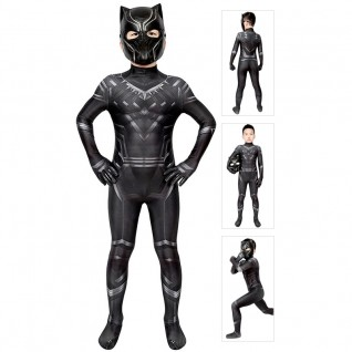 Kids Black Panther Suit T'Challa Cosplay Costume