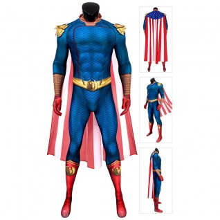 Adult The Boys Cosplay Suit The Homelander Jumpsuit
