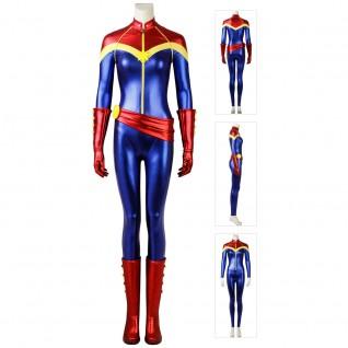 Carol Danvers Cosplay Costume Captain Marvel Cosplay Jumpsuit