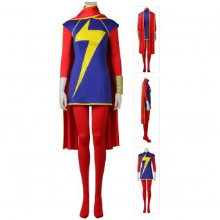 Kamala Khan Costume Captain Marvel Cosplay Suits
