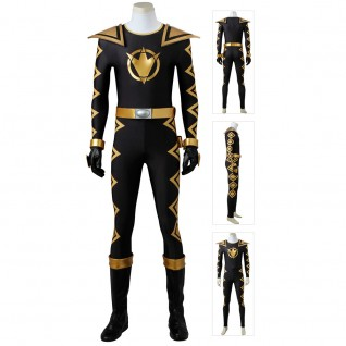 Black Dino Ranger Costume Power Rangers Dino Thunder Cosplay Suits