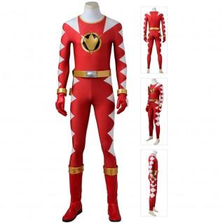 Red Dino Ranger Costume Power Rangers Dino Thunder Cosplay Suit