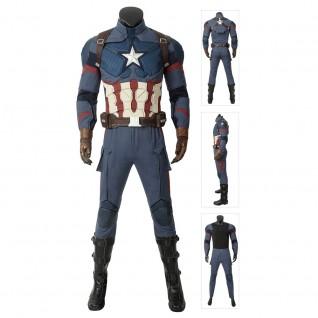 Captain America Steven Rogers Cosplay Costume by The Avengers: Endgame