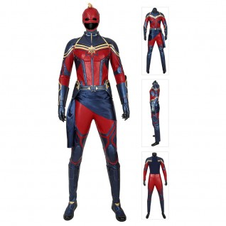 Captain Marvel Carol Danvers Costume Avengers 4 Endgame Cosplay Suits