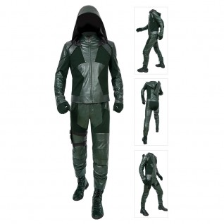 Oliver Queen Cosplay Costume Green Arrow Season 8 Cosplay Suits