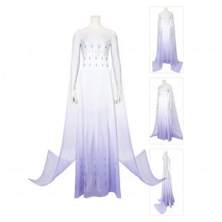 Elsa Cosplay Costume Frozen 2 Dress Suit
