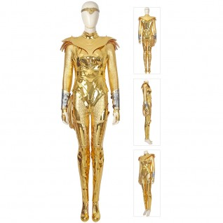 Wonder Woman 1984 Diana Prince Cosplay Costume Golden Suits