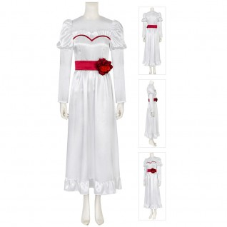 Annabelle Cosplay Costumes Halloween White Dress Suit