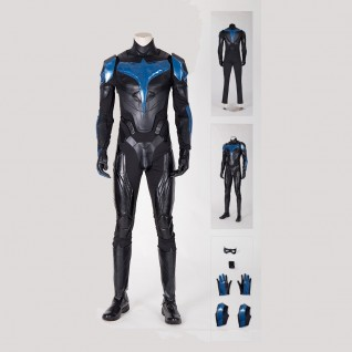 Nightwing Costume Dick Grayson Titans Cosplay Suits
