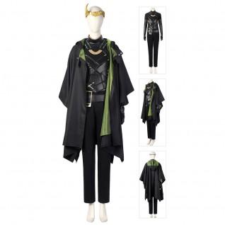 Lady Loki Cosplay Costume Sylvie Lushton Female Loki Cosplay Suit