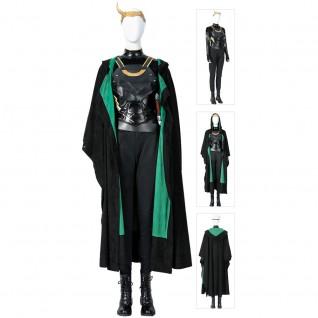Female Loki Costumes Lady Sylvie Lushton Loki Cosplay Suit
