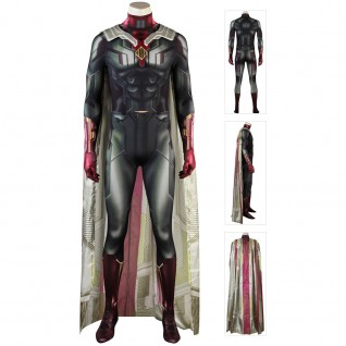 Vision Costume Avengers 3 Infinity War Cosplay Suits Jumpsuit
