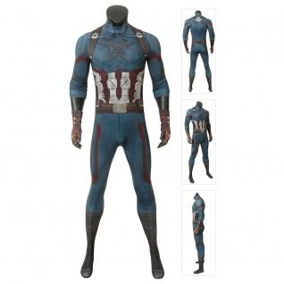 Captain America Costume Avengers 3 Infinity War Steve Rogers Jumpsuit
