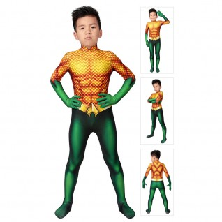 Arthur Curry Costume Aquaman Cosplay Suits For Kids