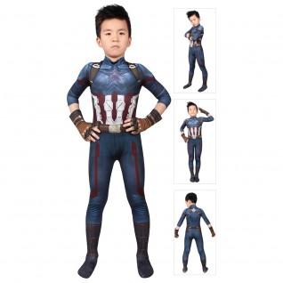 Captain America Costume Avengers 3 Infinity War Steve Rogers Jumpsuit For Kids