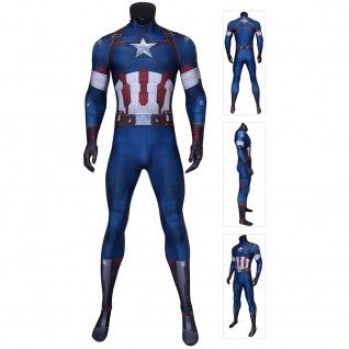 Captain America Steve Rogers Costume Avengers 2 Austrian Age Cosplay Jumpsuits
