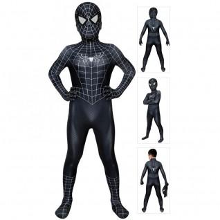 Eddie Brock Costume Spiderman 3 Venom Jumpsuit For Kids