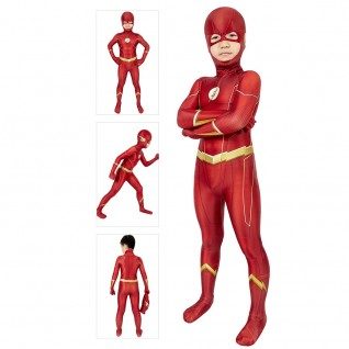 Barry Allen Costume The Flash Season 6 Cosplay Jumpsuit For Kids