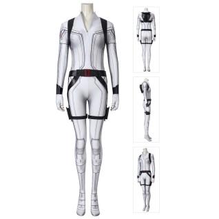 Natasha Romanoff White Costume Black Widow Cosplay Jumpsuit