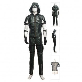 Oliver Queen Upgraded Version Costume Green Arrow Season 4 Cosplay Suits