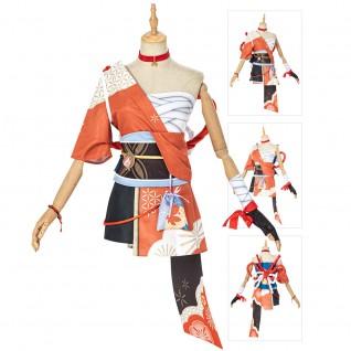 Yoimiya Cosplay Costumes Game Genshin Impact Cosplay Suit